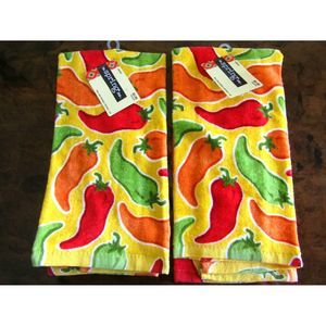 "Kitchen Dishes towel 16"" x 25"" set of 2 New"